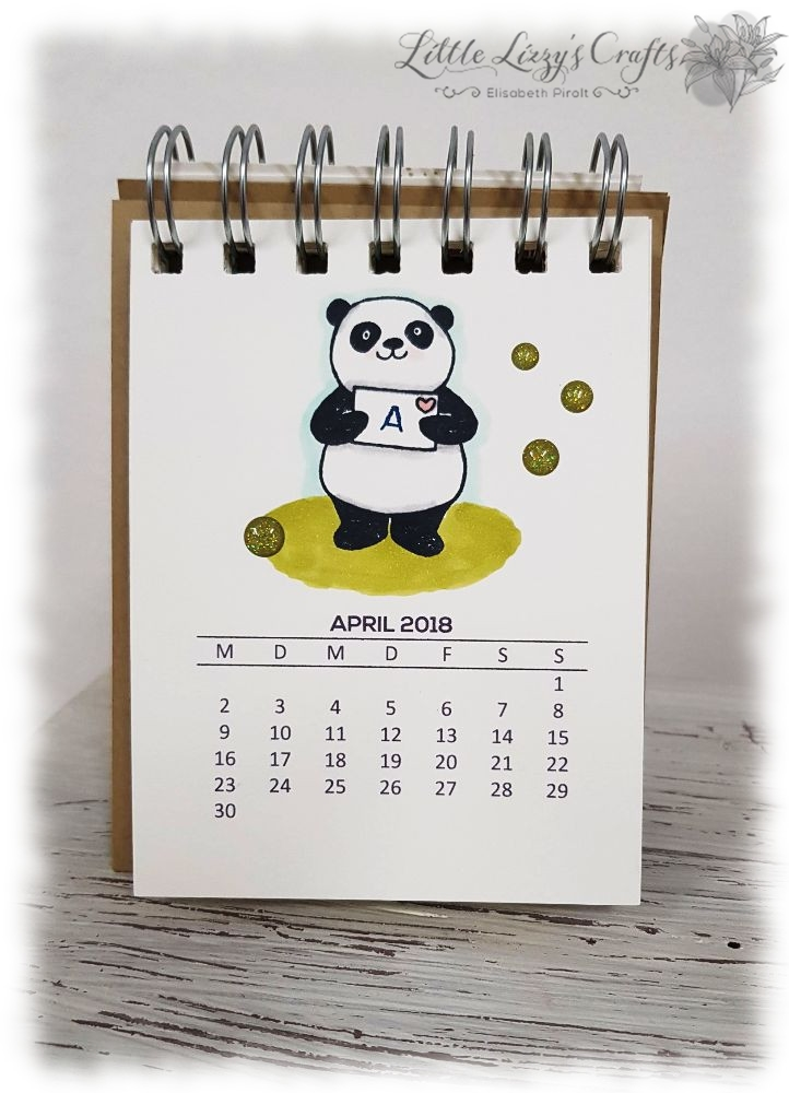Kalender April Party-Pandas Stampin' Up!