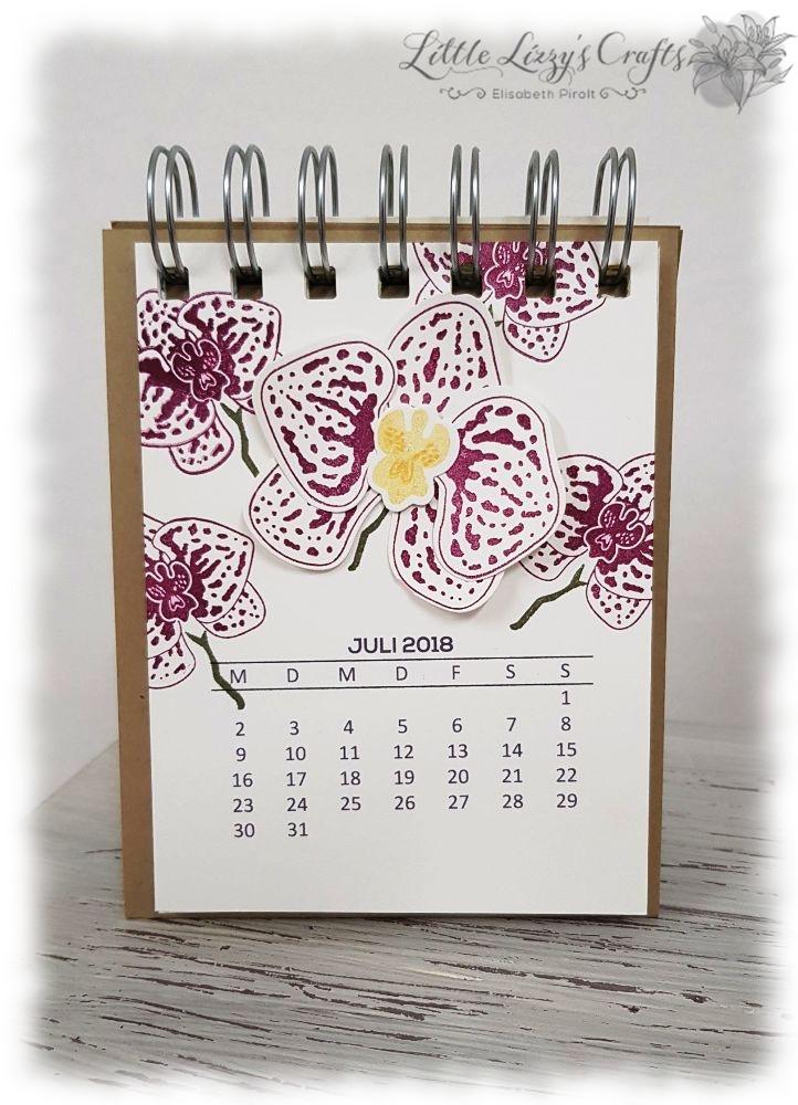 Kalender Juli Orchideenzweig Stampin' Up!