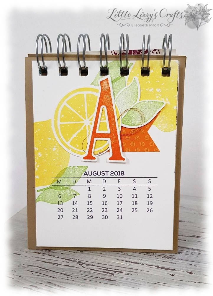 Kalender August Lemon Zest Stampin' Up!