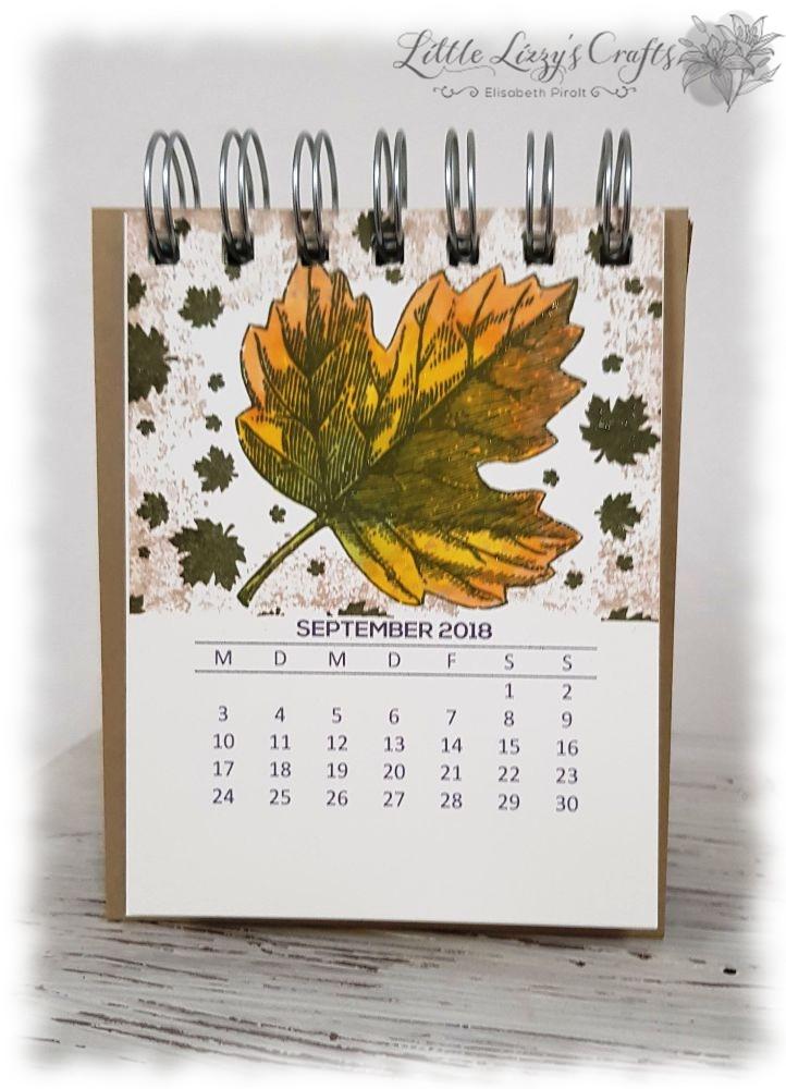 Kalender September Vintage Leaves Stampin' Up!