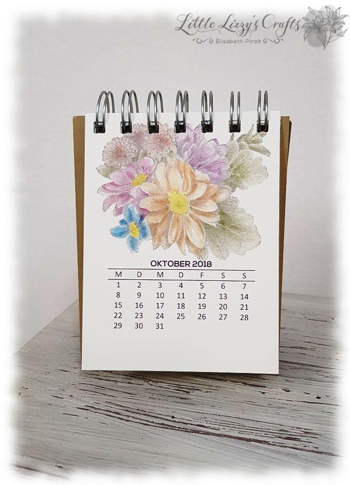 Kalender Oktober Blumen von Herzen Stampin' Up!