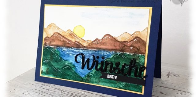 Aquarell Landschaft Am Ufer Stampin' Up!