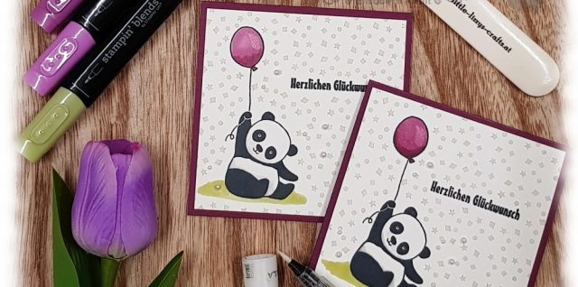Fill In Background Party Pandas Stampin' Up!