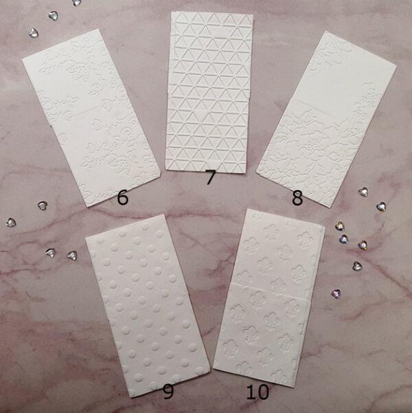 Geprägte Taschentücher Muster 6 bis 10