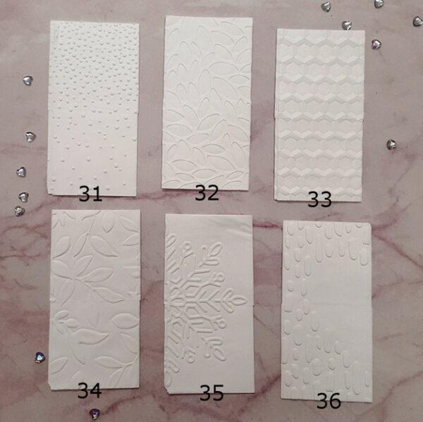 geprägte Taschentücher Muster 31 bis 36
