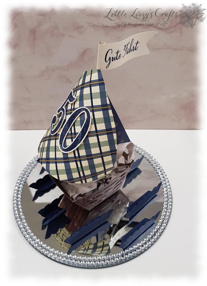 Aus der Kreativwerkstatt So viele Jahre Geburtstagsgeschenk Geldgeschenk Schiff Boot Stampin' Up!