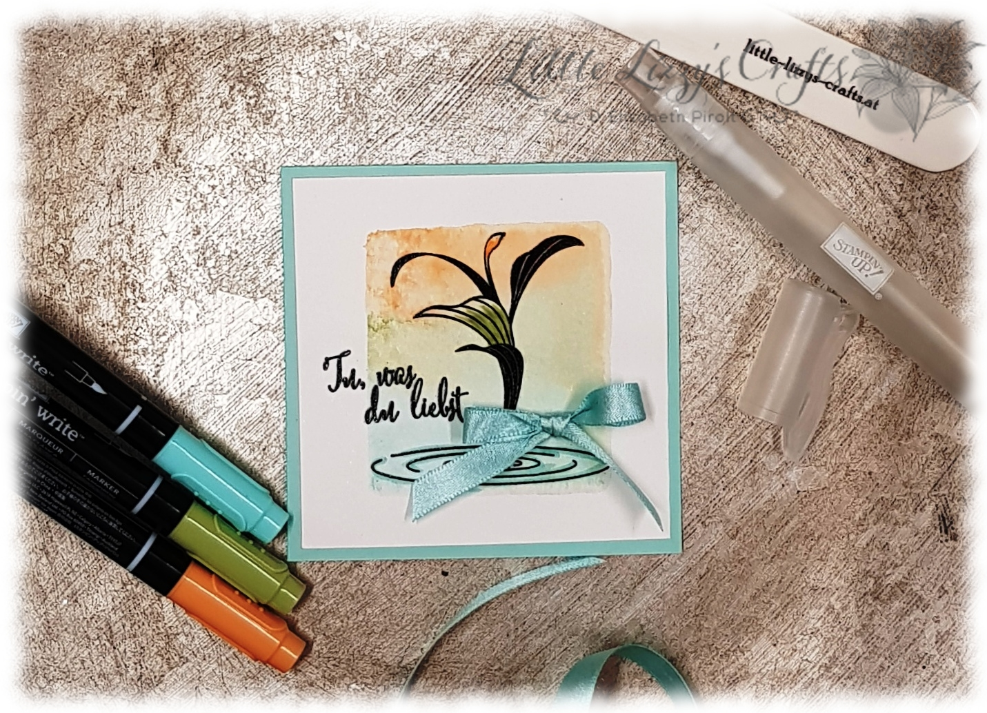 Tu was du liebst Peaceful Reflection Acrylblock Technik Stampin' Up!