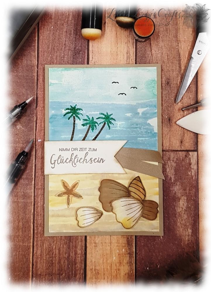 Ocean Meer Urlaub Strand Travel Male Card maskuline Karte Stampin' Up!