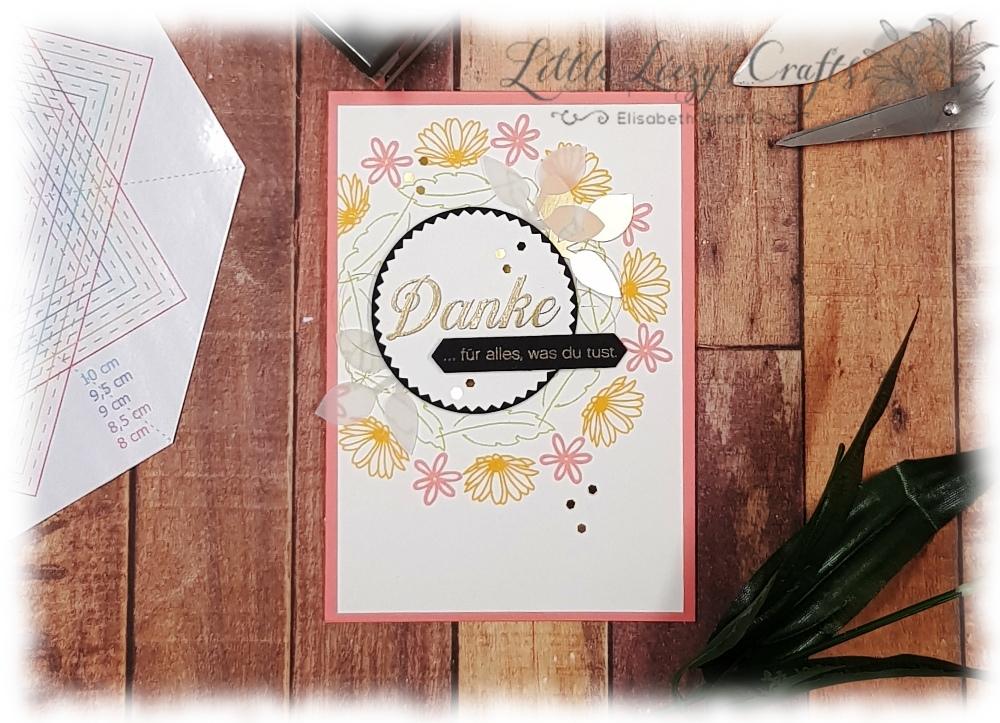 Gänseblümchengruß Swirley Bird Stamparatus Schablone Stampin' Up