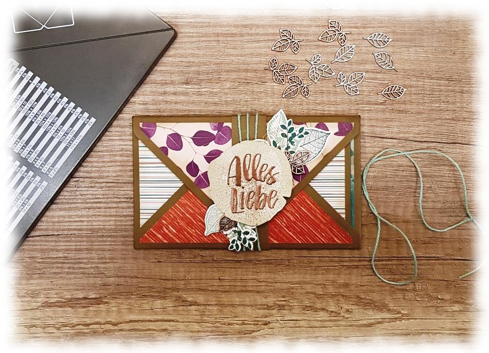 Minialbum Envelope Punch Board Kraft der Natur Stampin' Up!