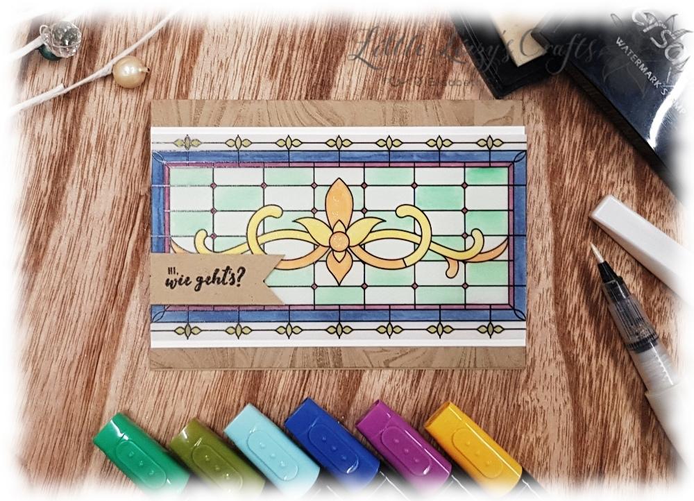 Fantasie aus Glas Buntglastechnik Stampin' Up!