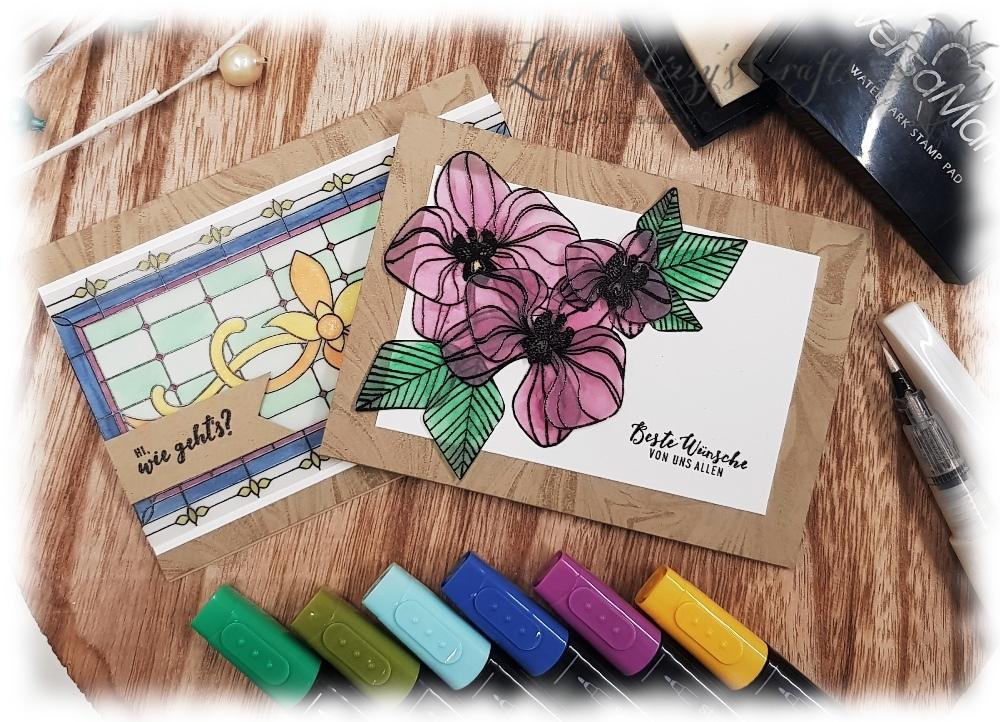 Stained Glass Technique on Vellum Stampin' Up!