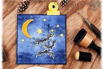 interaktive Karte Unheimlich Lecker Fledermäuse Halloween bewegte Motive Stampin' Up!