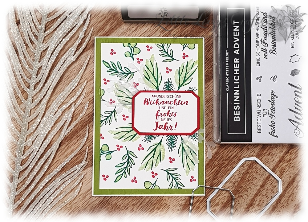 Stamparatus Kranz Template Besinnlicher Advent Eisblüten Stampin' Up!