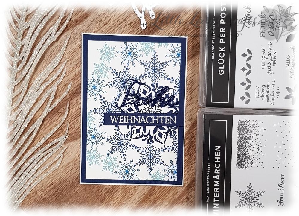 Stamparatus Kranz Template Wintermärchen Glück per Post Flockengestöber Weihnachtliche Vielfalt Stampin' Up!