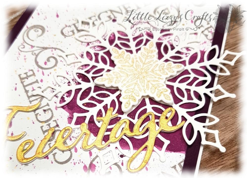 Schneegestöber Wintermärchen Frohe Feiertage Weihnachtliche Vielfalt All Purpose Ink Stamparatus Kranz Template Stampin' Up!