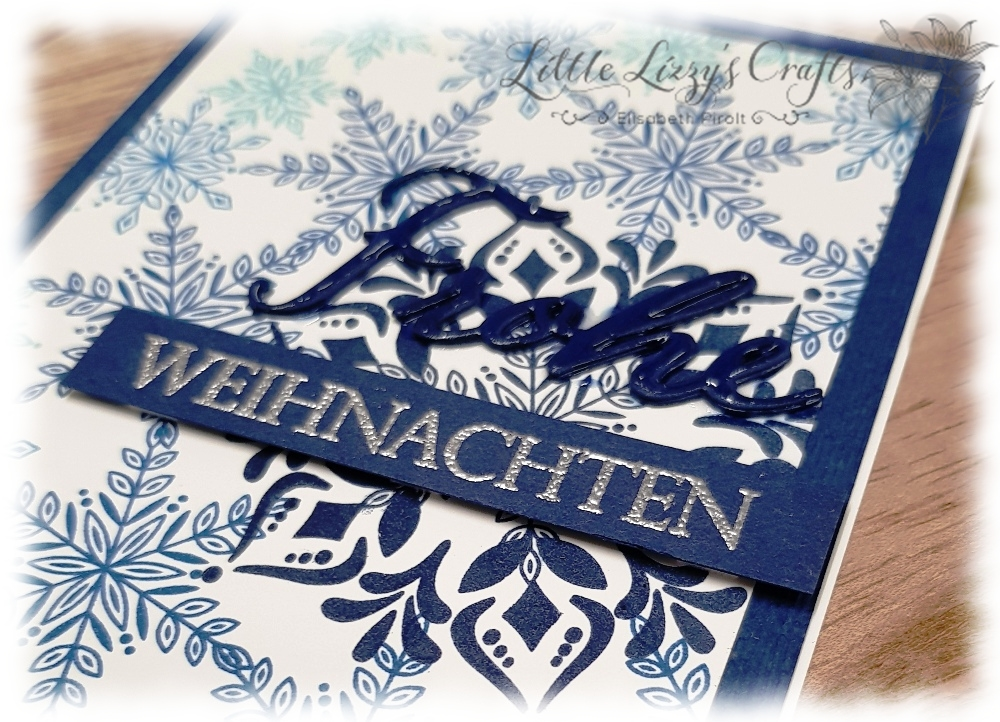 Flockengestöber Wintermärchen Glück per Post Weihnachtliche Vielfalt Stamparatus Kranz Template Stampin' Up!