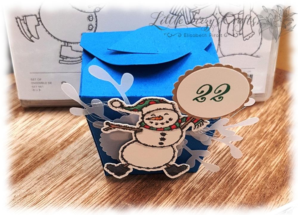 Adventskalender Boxen Verpackung Weihnachten Schneemann Stampin' Up!