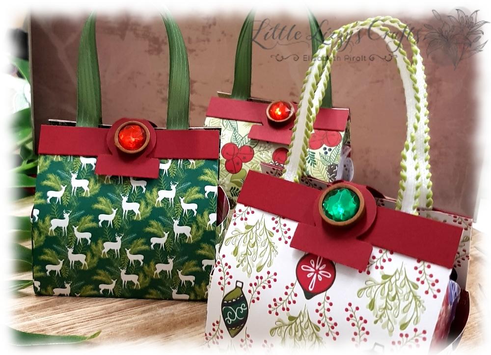 Handtaschen Mini Lebkuchen Verpackung Weihnachtsfreuden Stampin' Up!