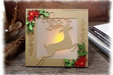 LED Teelicht Karte Weihnachtshirsch Stampin' Up!