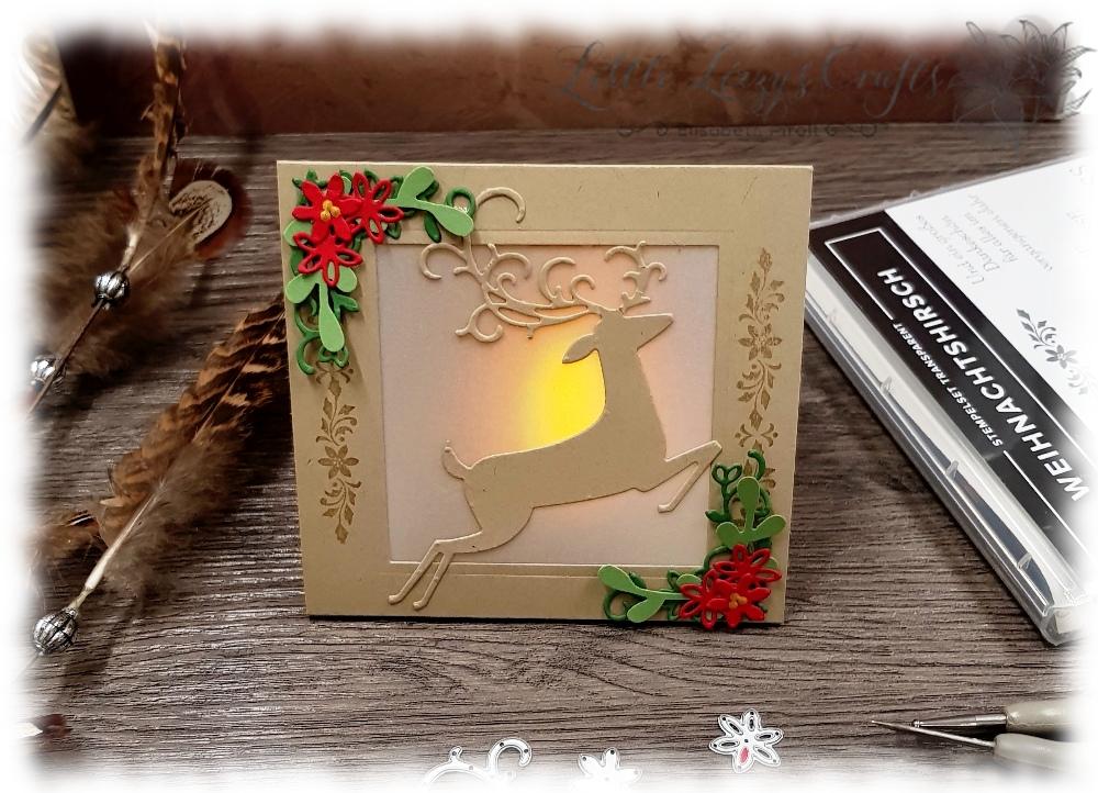 LED Licht Karte Weihnachten Deko Weihnachtswild Stampin' Up!