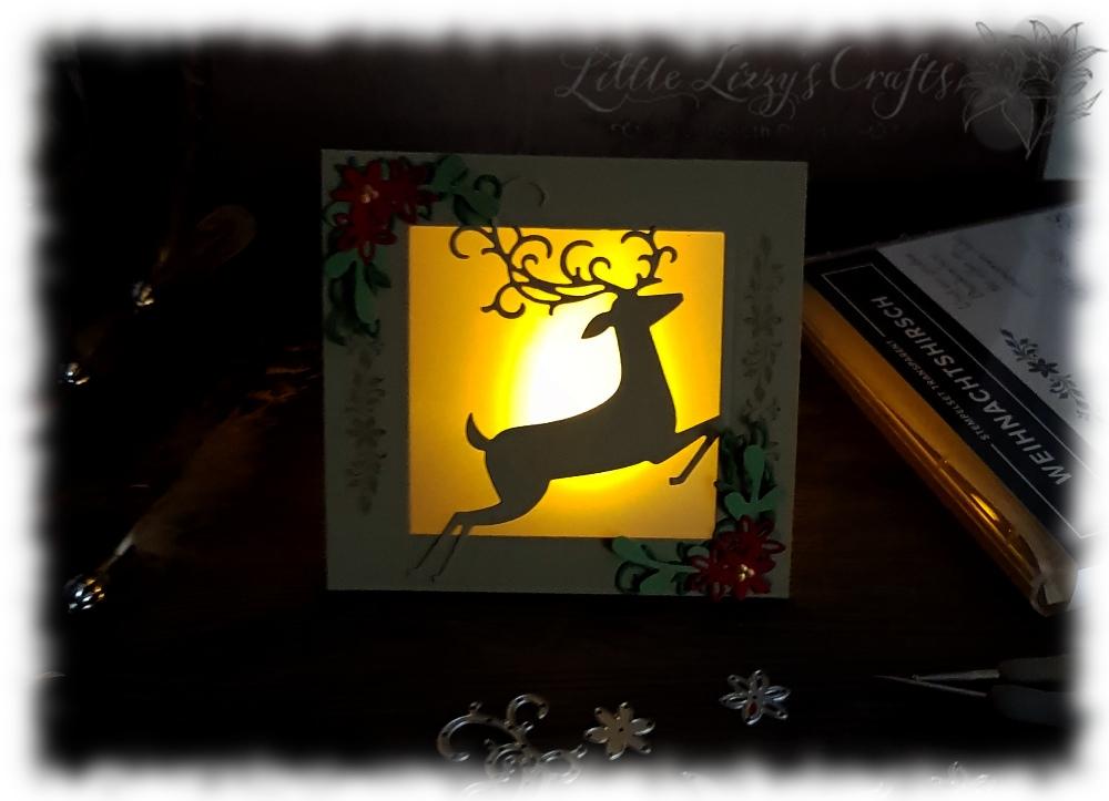 LED Tealight Card Detailed Deer Stampin' Up!