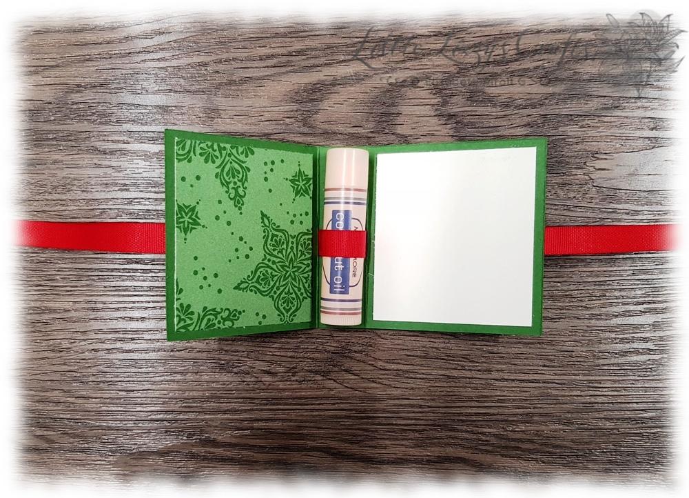 Labello Lippenpflege Stift Verpackung Box Geschenksidee Tutorial Stampin' Up!