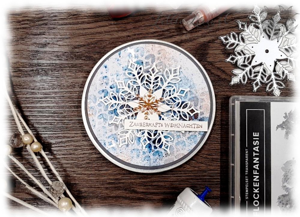 Snowflake Schneeflocke Schnee Weihnachten Schneegestöber Flockenfantasie Brushos Stampin' Up!