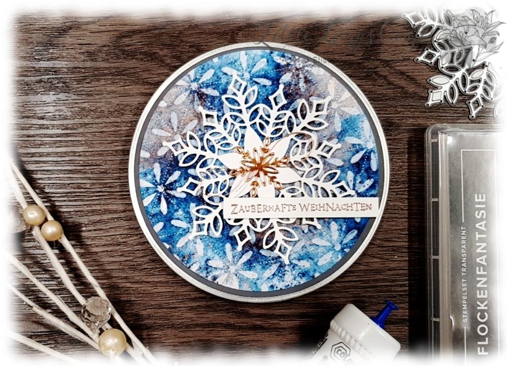 Snowfall Thinlits XMas Gift Card Box Stampin' Up!