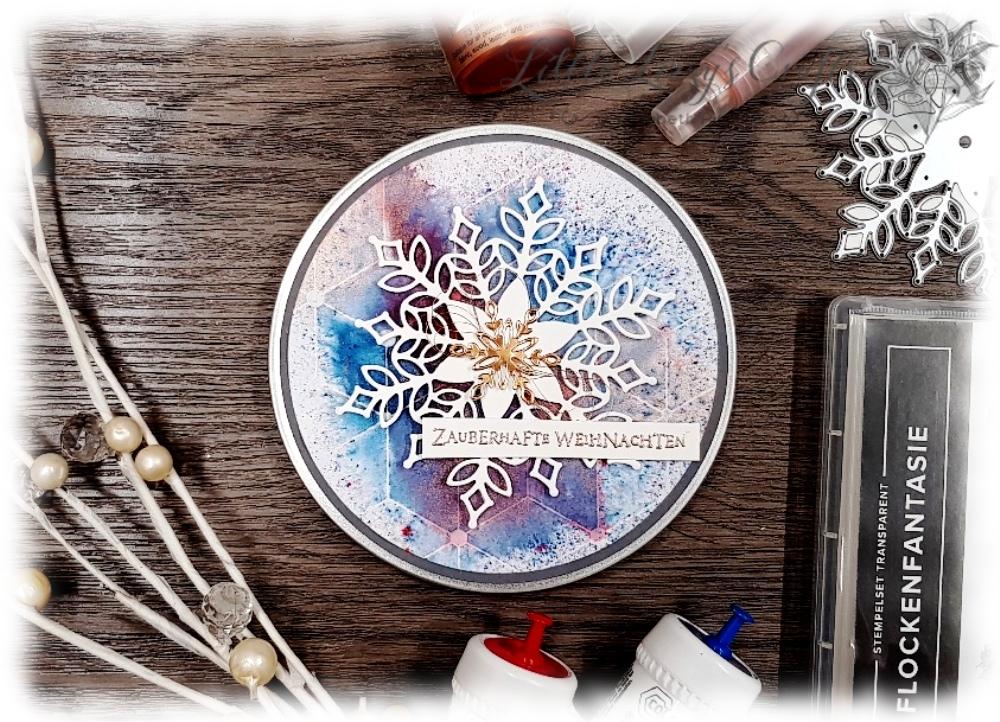 Flockenfantasie Schneegestöber Kupfer Glanzfarbe All Purpose Ink Brushos Stampin' Up!