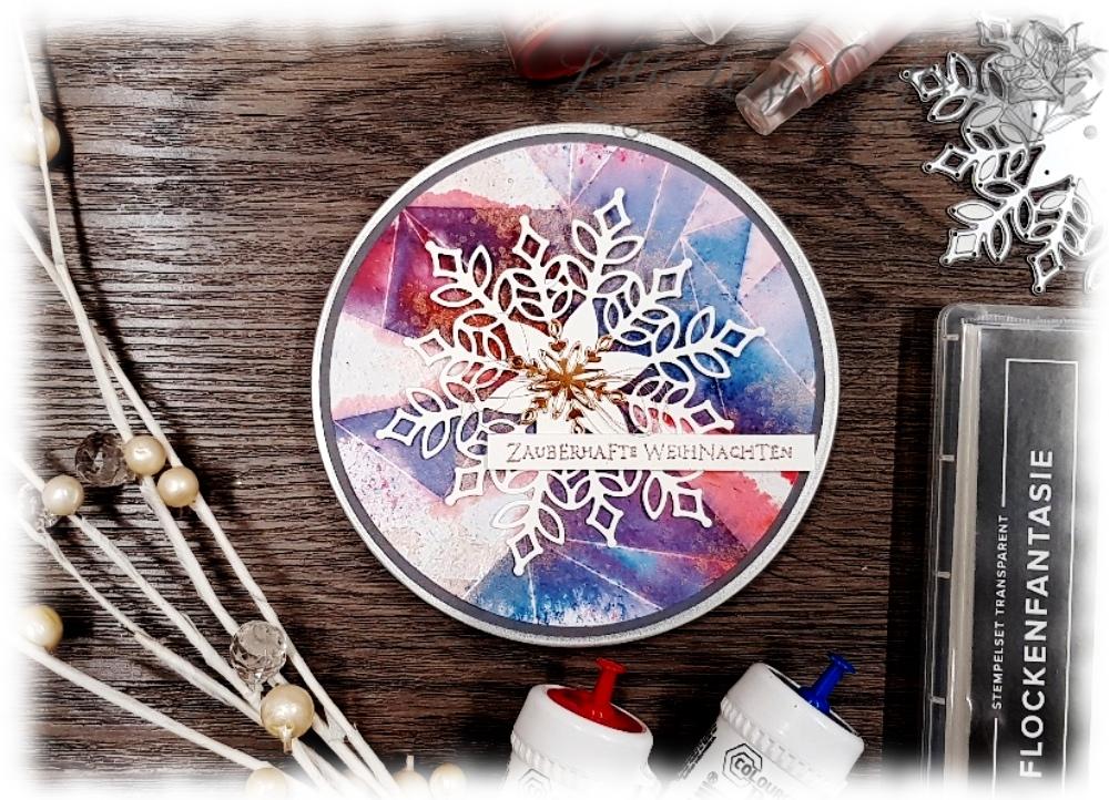 Schneeflocken Weihnachten Geschenke DIY Video Anleitung Stampin' Up! toller Effekt