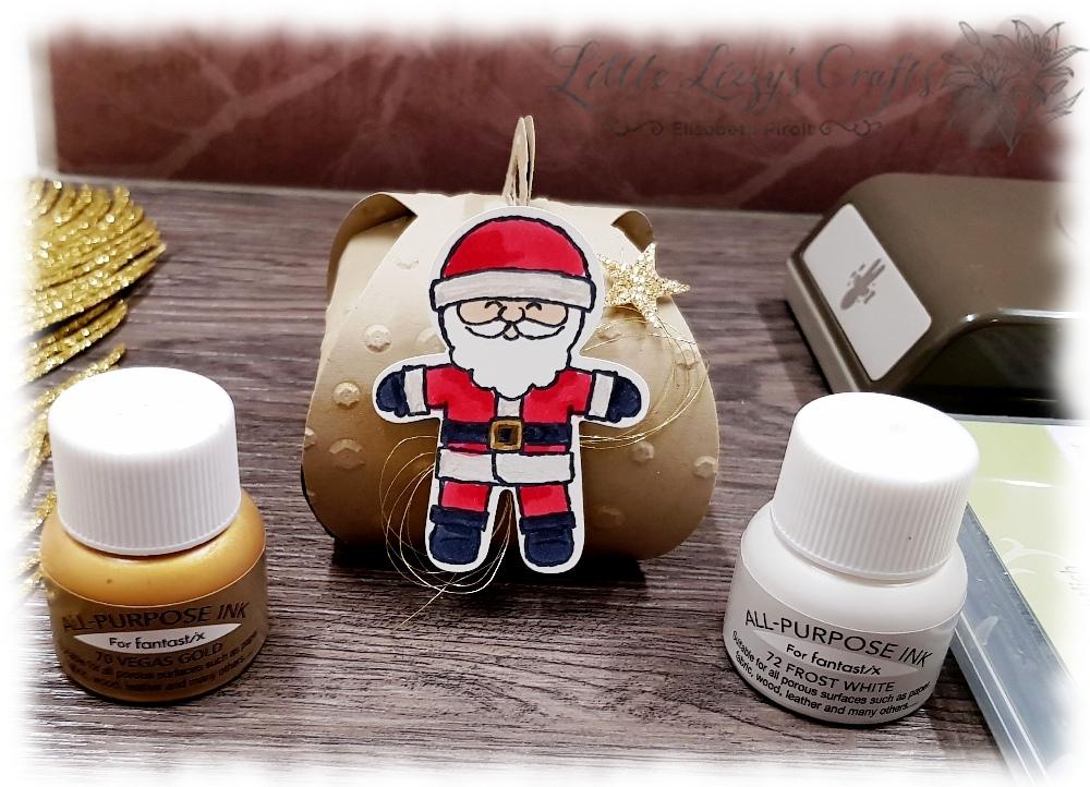 Kurvry Keepsakes Shimmer Paint Santa Claus Stampin' Up!