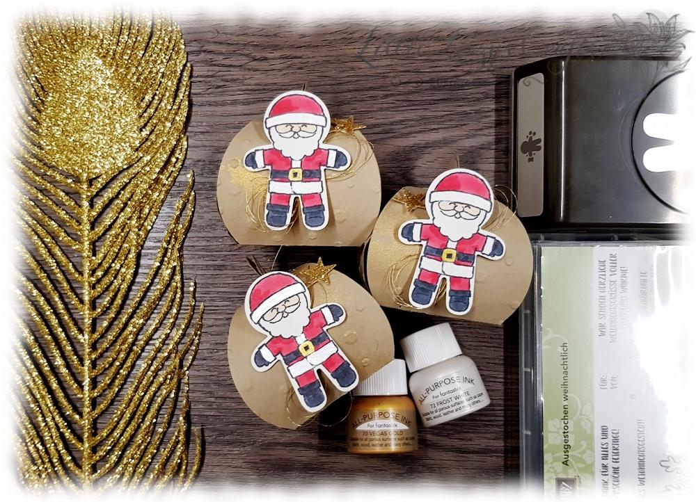 Zierschachtel Ausgestochen Weihnachtlich Glanzfarbe Stampin' Up!