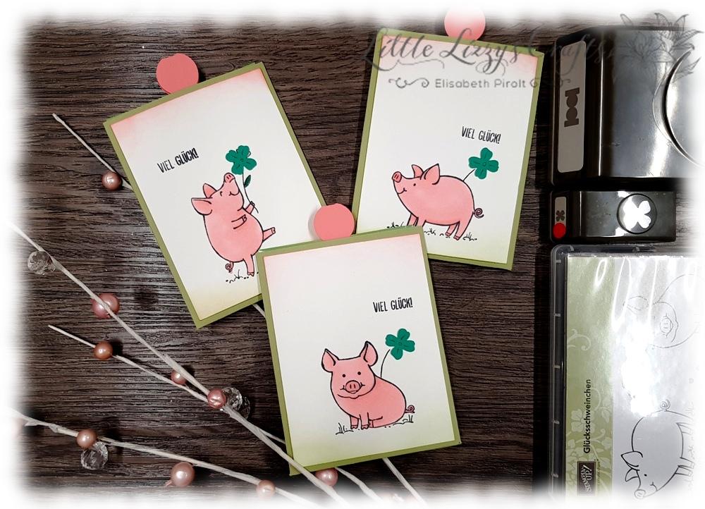 Glücksklee Verpackung Glücksschweinchen Stampin' Up!