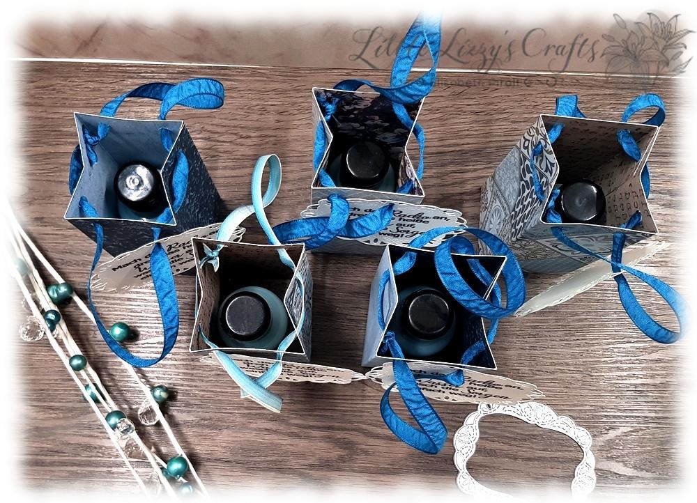 einfache Duschgel Verpackung Falzbrett für Geschenktüten Stampin' Up!
