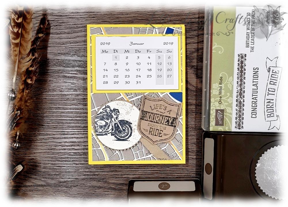 Tischkalender Aufstellkalender maskulin Stampin' Up!