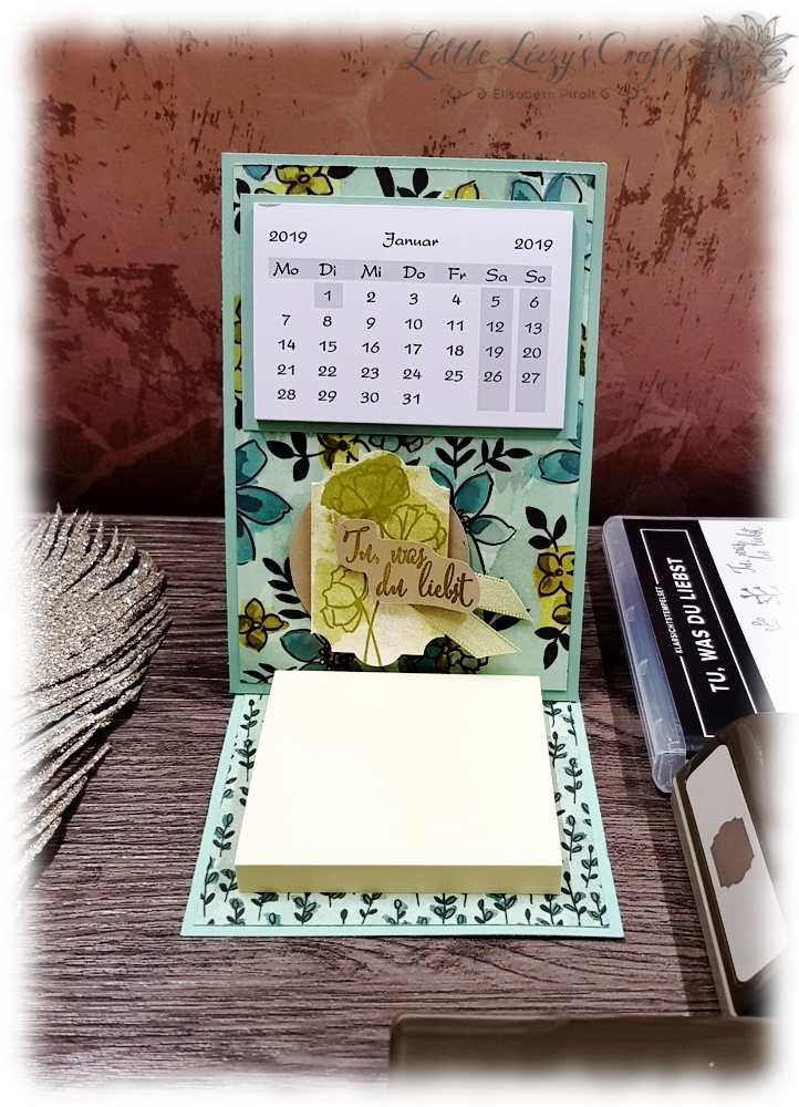 Post It Kalender Haftnotizkalender Tischkalender Stampin' Up!