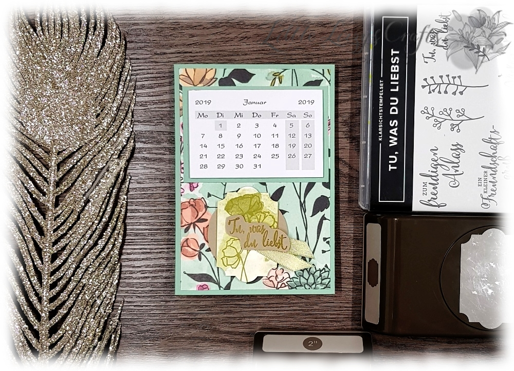 Tischkalender Aufsteller feminin Stampin' Up!