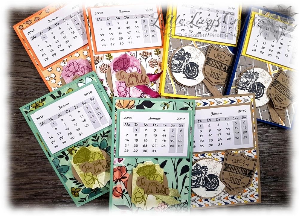 Tischkalender Haftnotizblock Aufsteller Stampin' Up!