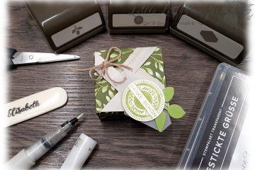 Windrad Verpackung Box Falzbrett für Umschläge beliebige Größe Anleitung Stampin' Up!