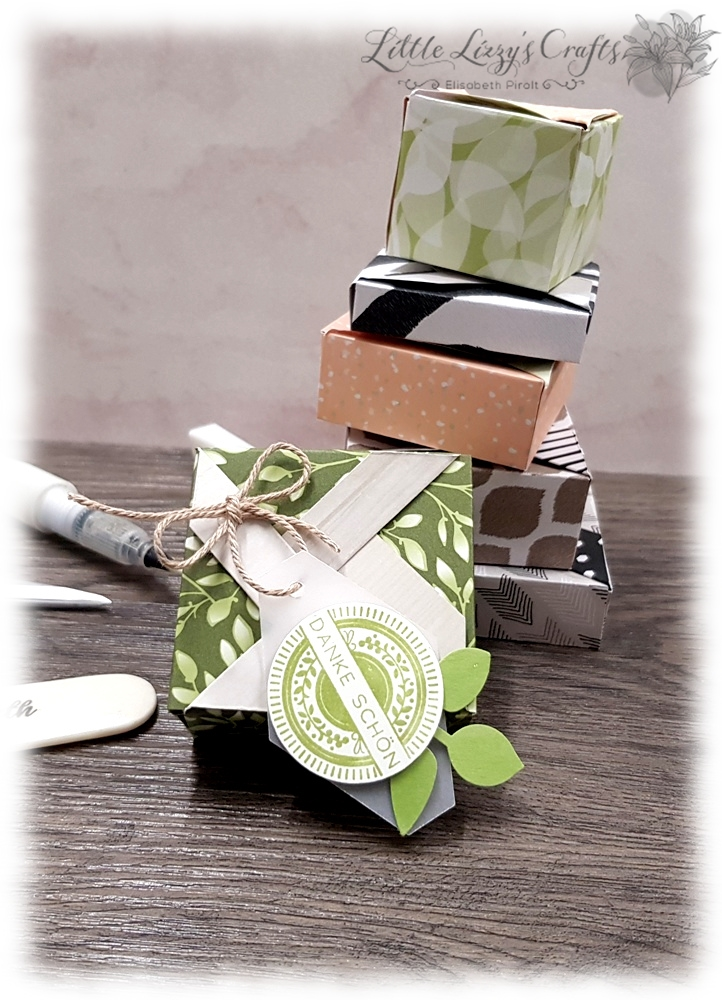Pinwheelbox Envelope Punch Board Tutorial different sizes Stampin' Up!