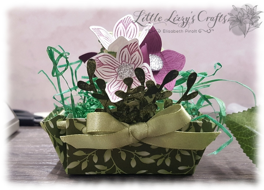 Basket EPB Tutorial Floral Romance Pop of Petals Stampin' Up!