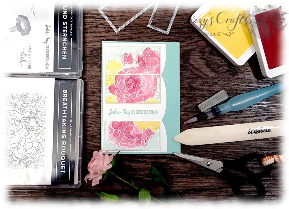 Aquarelltechnik mit Stempelkissen Breathtaking Bouquet Stampin' Up!