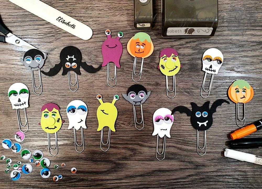 Punch Art Büroklammern beim 3D Paper Trimmer Blog Hop Oktober 2020 – Thema: Halloween