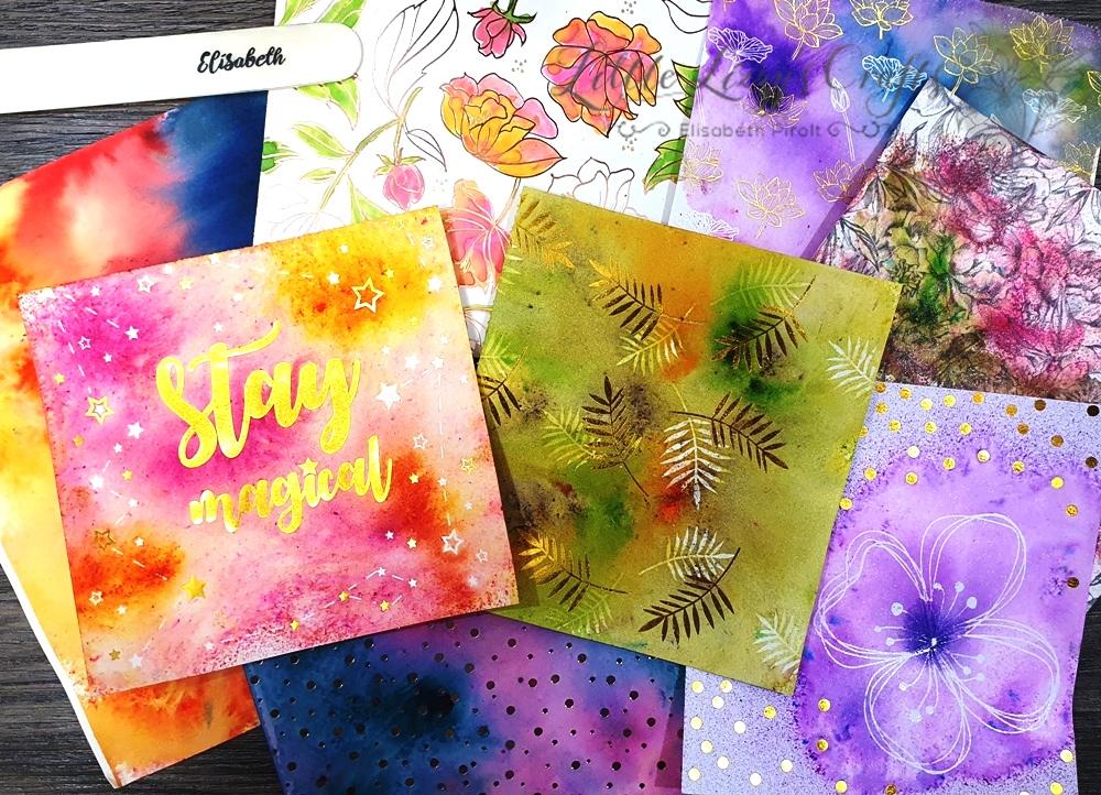 Brusho Crystal Colours und Pigment Sprinkles
