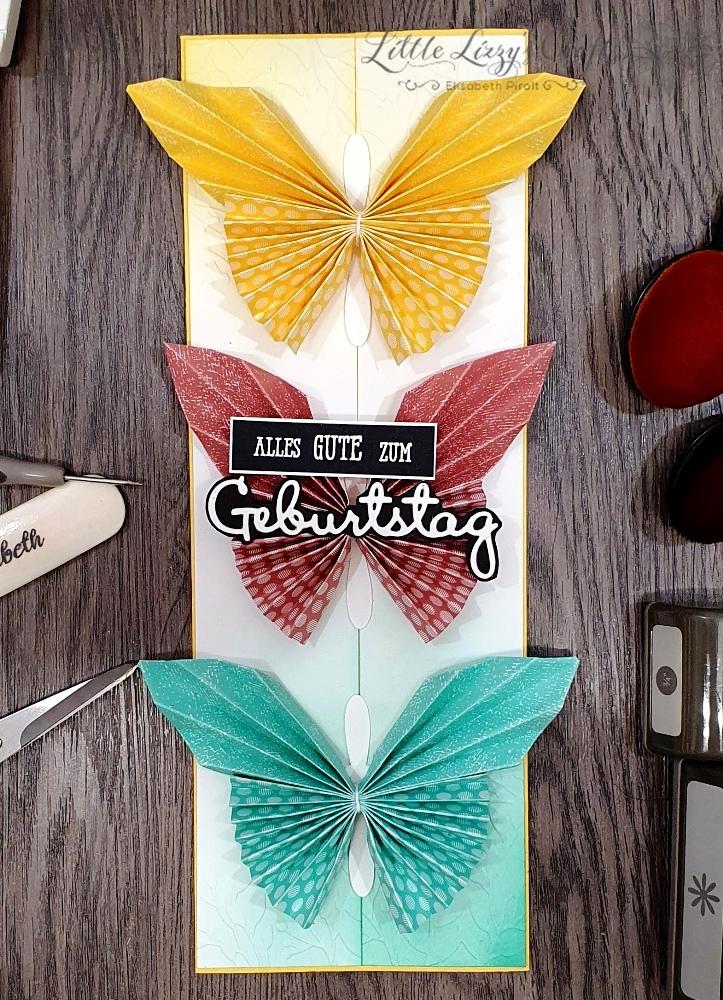 Origami Schmetterlinge beim Colour Combo Blog Hop November 2020