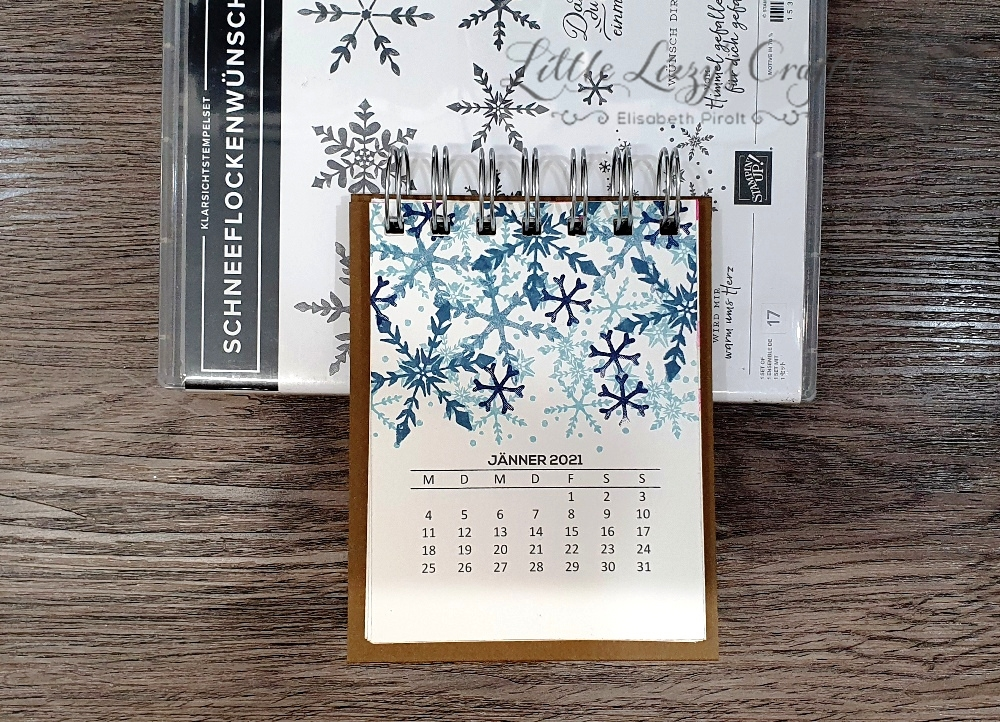 Schneeflockenwünsche Stampin' Up! Tischkalender Cinch
