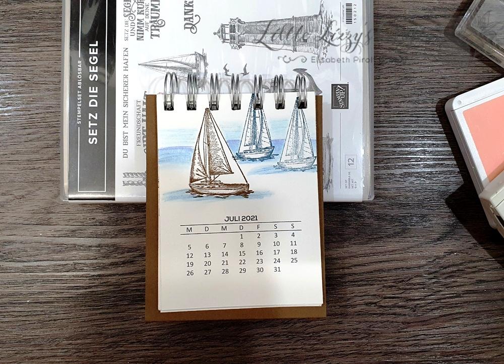 Setz die Segel Stampin' Up! Tischkalender Cinch