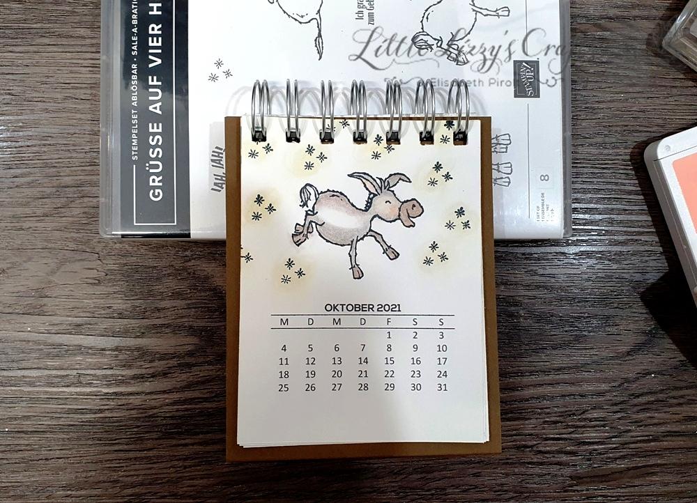 Grüße auf vier Hufen Stampin' Up! Tischkalender Cinch