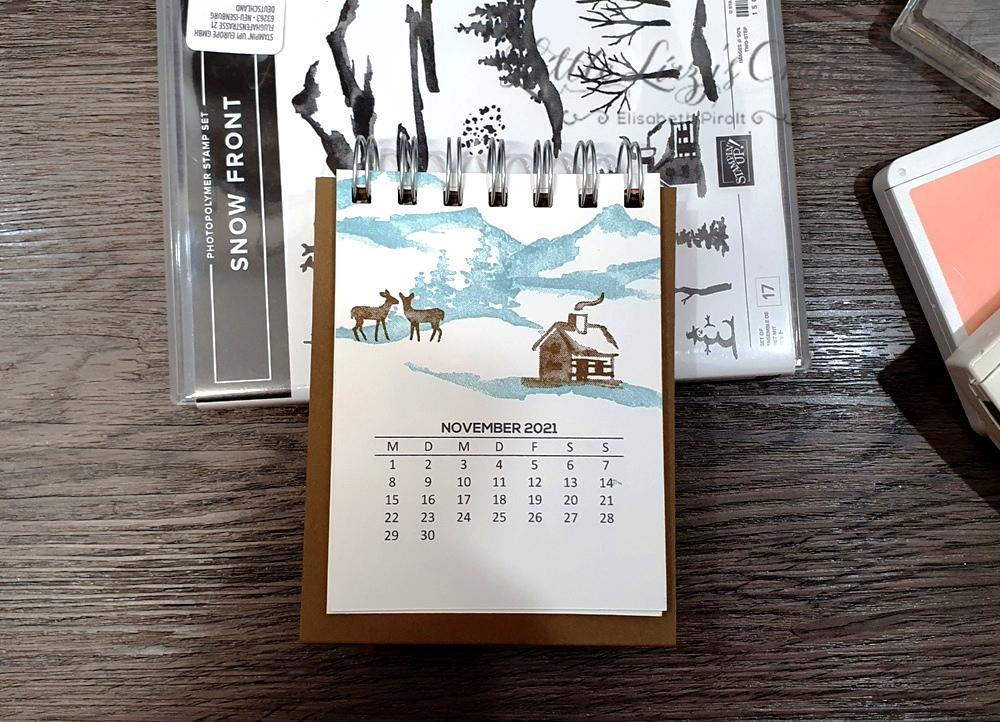 Snow Front Stampin' Up! Tischkalender Cinch